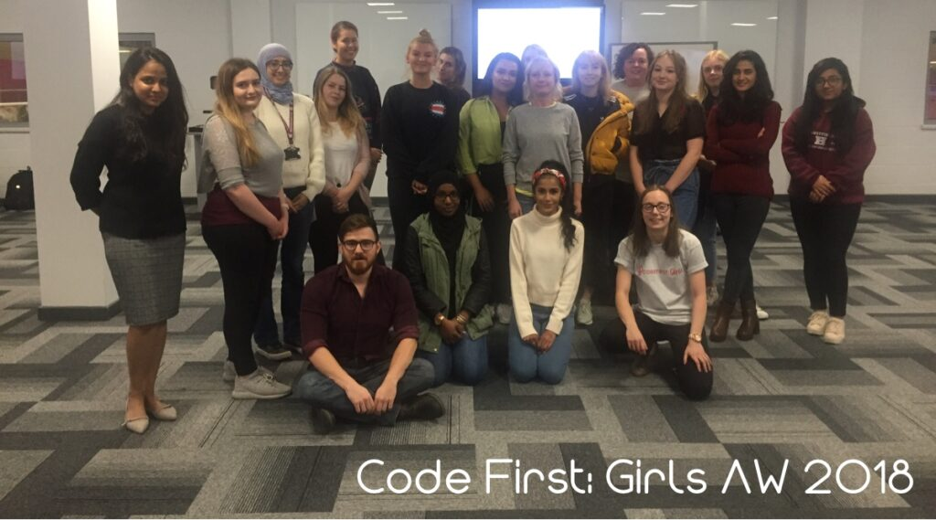 Group photo of SHU students at Code First Girls